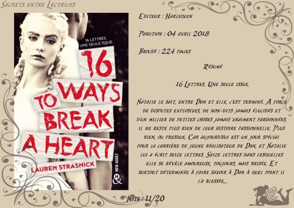 16 ways to break a heart de Lauren Strasnick