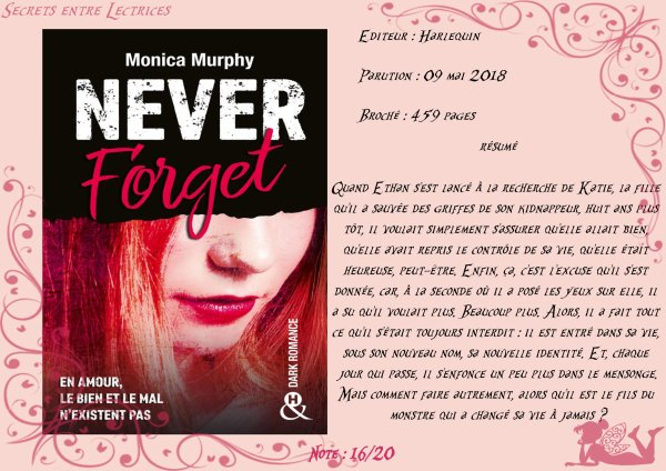 Never Forget Tome 1 de Monica Murphy