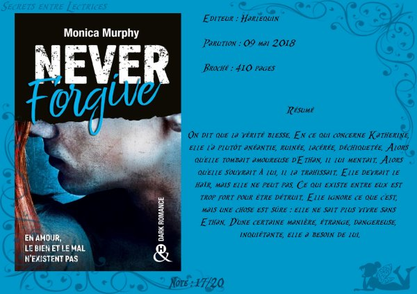 Never Forget Tome 2 : Never Forgive de Monica Murphy