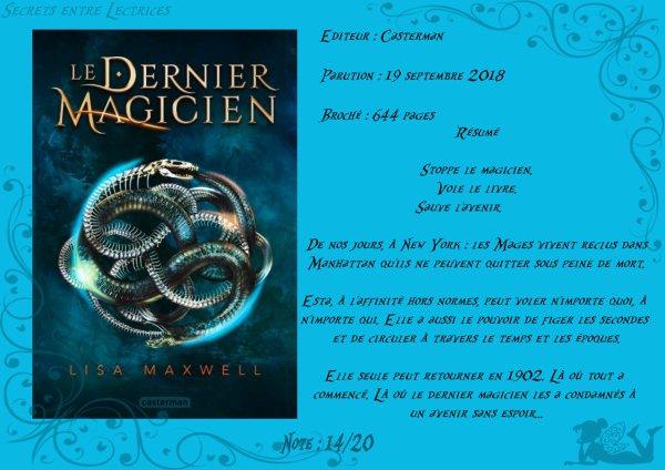 Le Dernier Magicien Tome 1 : L'Ars Arcana de Lisa Maxwell