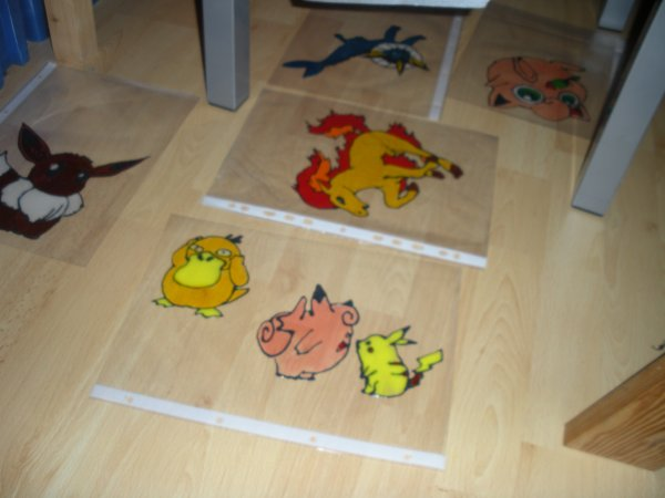 Pokémon peinture pour vitres