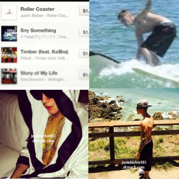 le 27 novembre 2013 - Justin a profité de son temps libre pour se rendre à la PLAGE WATEGOS de Byron Bay