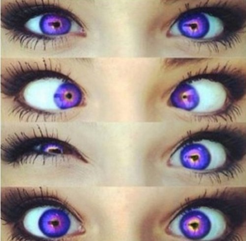Si t'avais les yeux violet bébé je t'aimerais toute ma vie. ♪