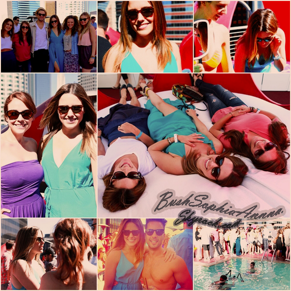 . 23 Juin 2012 ~ Sophia était à la Warby Parker Pool Party à Los Angeles. Les photos viennent de sortir , Sophia est vêtue d'une robe turquoise magnifique accompagnée de Jenny.S  Comment l'a trouves-tu ? ;)