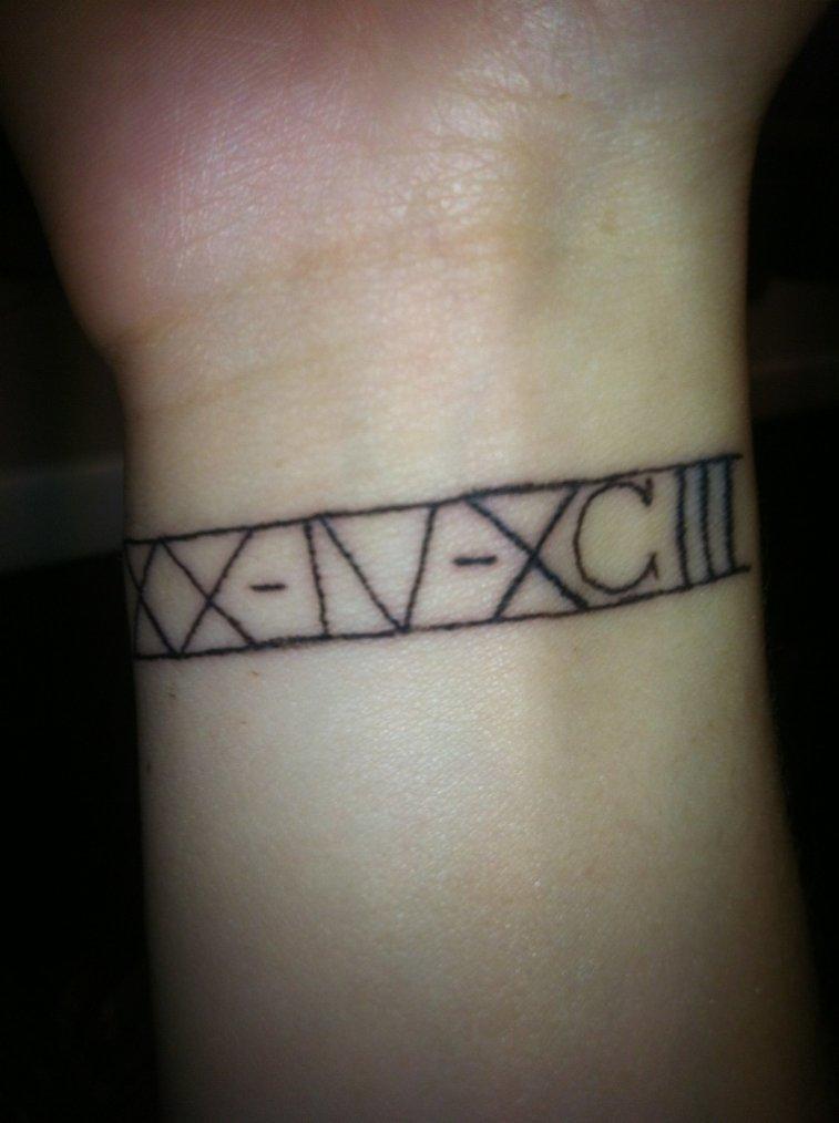 On tatouage sa représente ma date de naissance en chiffre romain ;)