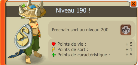Le up lvl 190 de Sadic-neros