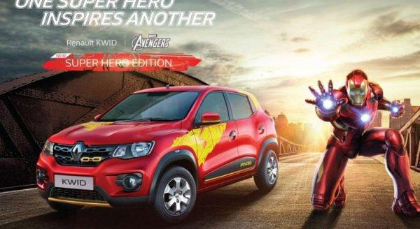 Iron Man et Captain America unissent leurs forces pour afficher leurs couleurs sur le SUV Renault Kwid