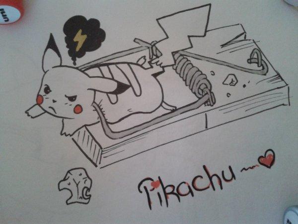 Je vous ai dessiné un  autre pikachu <3