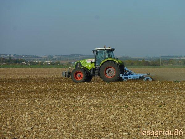 préparation des sols pour les semis de blé
