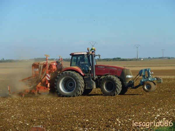 semis de blé 2011 avec un magnum