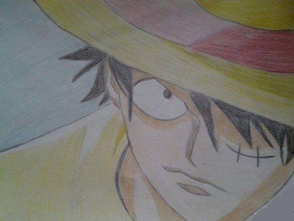 Premier dessin : Monkey D. Luffy ~