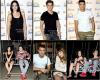"""_ ]  Candid Les acteurs dans un parc d'attraction à Madrid  a essayer """"Star flyer"""" une nouvelle Attraction . _"""