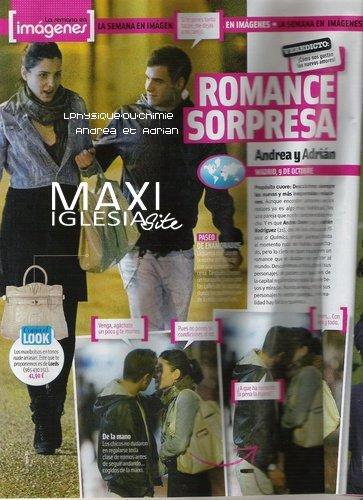 _ Scan du Magazine cuore'  Andrèa et Adrian Ont été aperçu dans les rues de Madrid , Main dans la main et en s'embrassent , ils sont bien en couple ! T'aime le couple? _