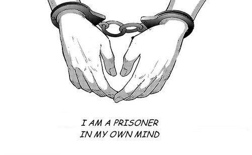 Je suis prisonnier(e) dans mon propre esprit.