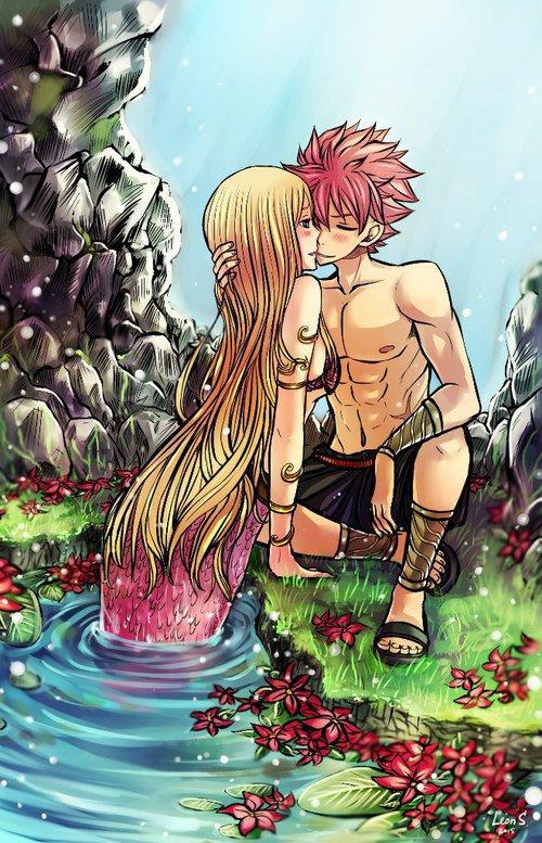 Il la ramène à l'eau et elle embrasse son héros