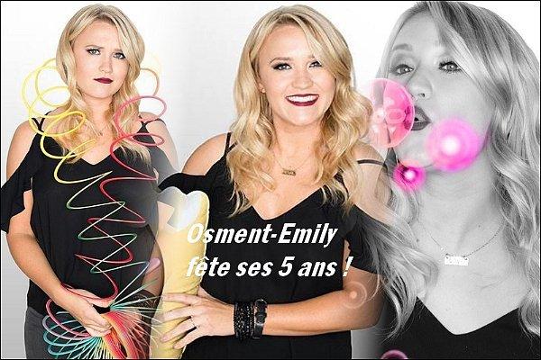 En ce 5 juin, Osment-Emily fête ses 5 ans ! Merci pour votre fidélité au blog ♥