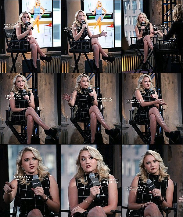 24 mars 2015 : Emily a été à un Livechat à AOL studio à New York, Em' a entre autre parlé de sa série Young and Hungry mais aussi de son prochain film Love Is All You Need & de sa carrière musicale...