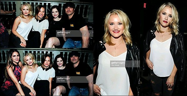 17 Octobre 2015 : Emily Osment était à l'avant première de Sock Em Dead à Los Angeles ●● Emily était super jolie. J'aime beaucoup sa veste en cuire, elle va bien avec son haut blanc et son pantalon troué.