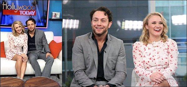 2 février 2016 : Emily et Jonathan Sadowski étaient présents à l'émission Hollywood Today Live ●● Les deux 'Youngs' ont parlés de leur relation dans la saison 3 de Y&H, Em' a parlé d'une éventuel réunion pour Hannah Montana...