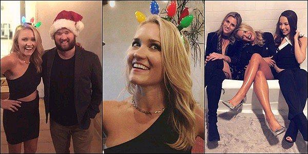 DÉCEMBRE 2017  ▬ Voici quelques photos posté sur les réseaux sociaux par la jolie blonde♡