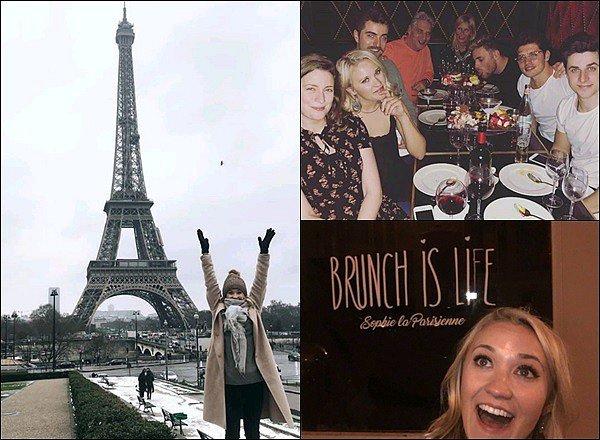 Début février 2018 - Voici quelques photos de Miss Osment lors de son séjour dans la capitale frnaçaise ●●Emily a également pris quelques photos avec des fans chanceuses qui l'ont croisés dans les rues de Paris, tout simplement adorable :)