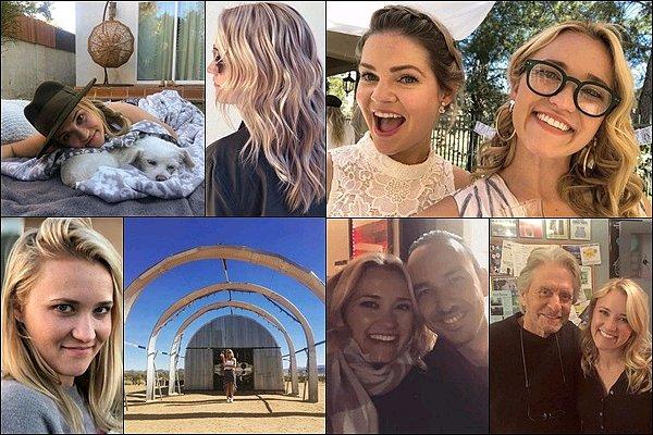 HIVERS 2018 ▬ Miss Osment a posté diverses photos sur les réseaux sociaux ●● Emily a posté plusieurs photos avec ses amis et ses co-stars sur le tournage de sa nouvelle série, The Kominsky Method
