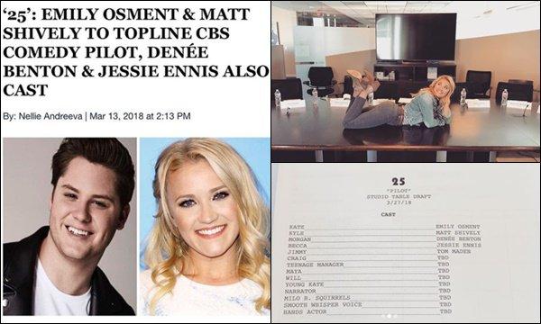 """Emily a obtenu le rôle principal dans la série """"25"""" de la chaîne CBS TV"""