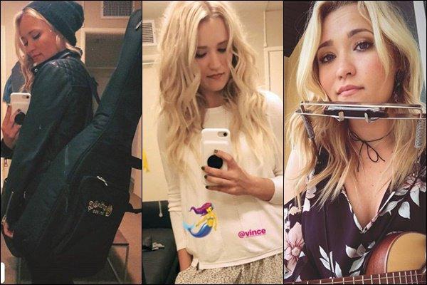 PRINTEMPS 2018  ▬ Emily a partagé plusieurs photos sur les réseaux sociaux ●● Même si la jolie blonde se fait discrète, nous avons quelques nouvelles grâce aux photos postées sur isntagram. Cela me fait vraiment plaisir de voir Emily autant RADIEUSE !! La belle doit surement se concentrer sur son nouvel album