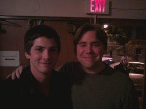 Logan et Stephen Chbosky. Logan et une fan.