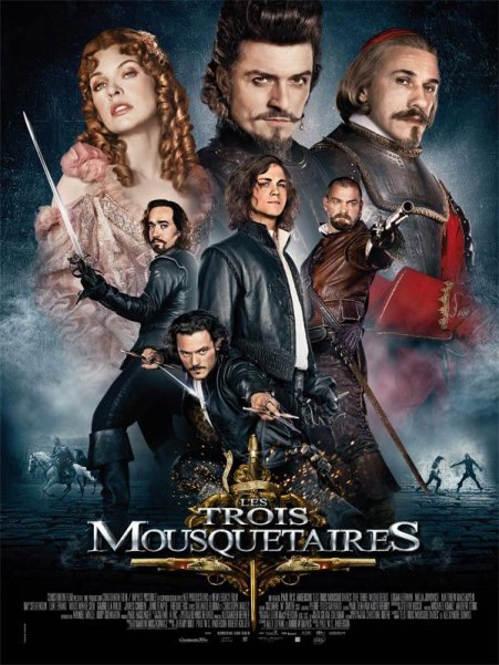 """L'affiche française du film """"Les Trois Mousquetaires"""""""