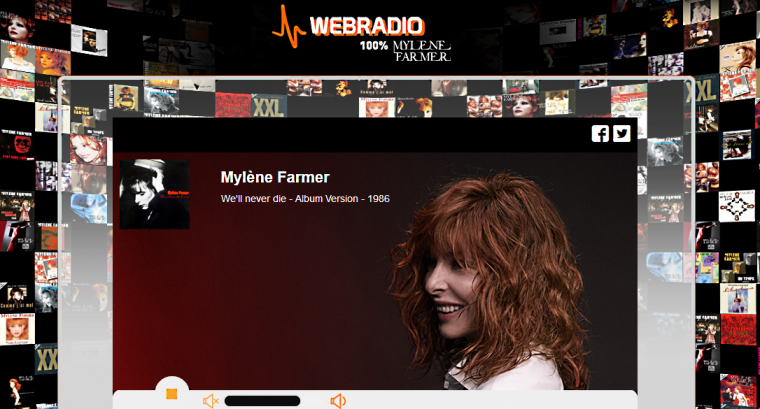* WEBRADIO 100 % MYLENE FARMER SITE MUSICAL. * Clip musical : Mylène Farmer - N'oublie pas (Clip officiel) * Clip musical : Mylène Farmer, Sting - Stolen Car. * Mylène Farmer Photos. Mylène Farmer, beauté incendiaire. Charmante et sexy. * Clip musical : Mylène Farmer - Du Temps.  * Mylène Farmer, les interviews radios.