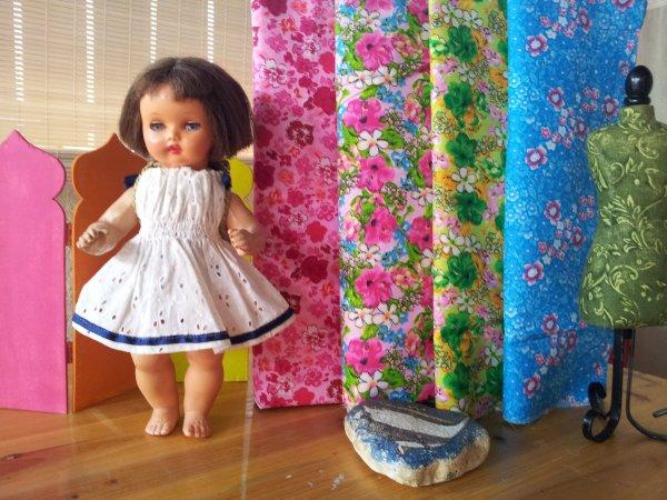 Annie à l'atelier couture ....