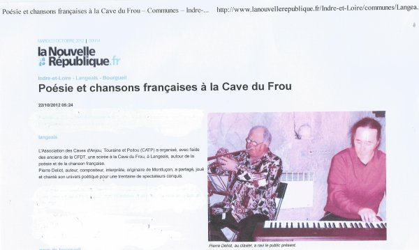 article du correspndant Nr de Langeais