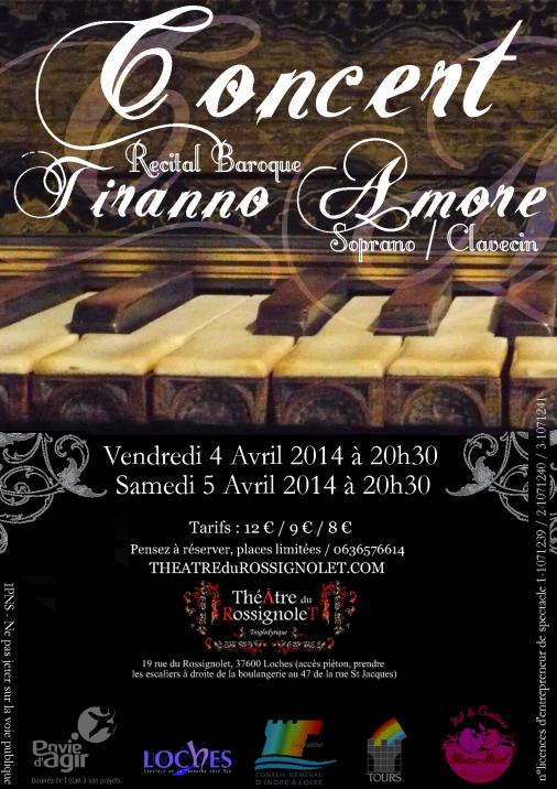 Lisa Magrini Démo CONCERT / Tiranno Amore (Récital Baroque) 4 et 5 Avril 2014 à 20h30