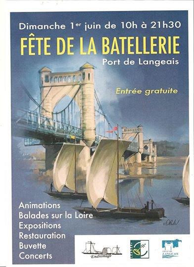 Fête de la Batellerie port de Langeais Dimanche 1  juin 2014...