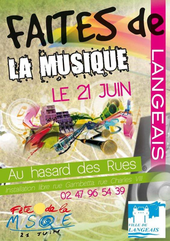 Le 21 juin F^te de la musique a Langeais animations de la cave du frou