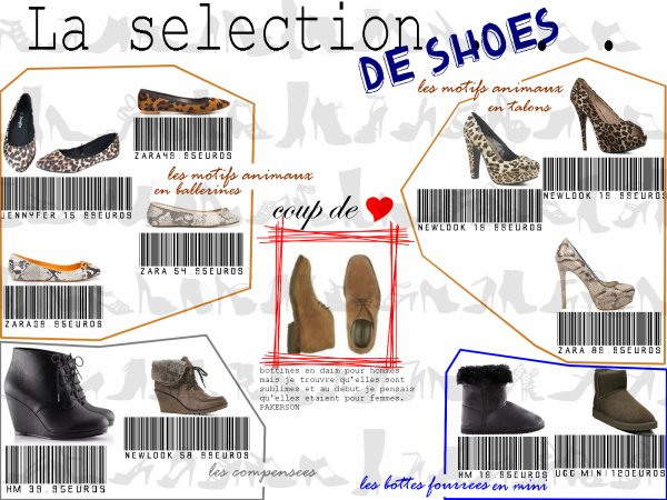 Selection de shoes pour etre trendy cette fin d'annee 2011