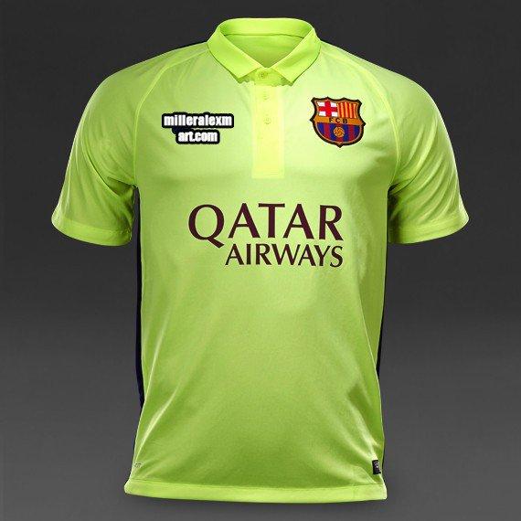 check out fadc8 3b2d4 Barcelona 14/15 Third Soccer Jersey - cheap soccer jerseys ...