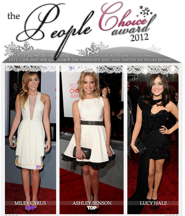 People's Choice Awards 2012 (article en collaboration avec VogueStylish) - Article 02.