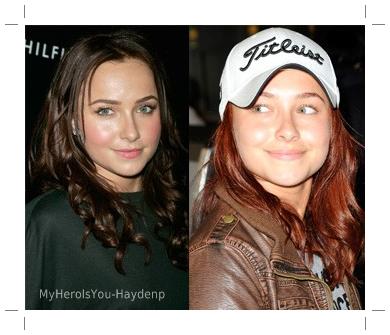 Nous ( enfin moi :p ) ne l'avions pas remarqué, mais Hayden s'est re-teint ses cheveux ! Mais cette fois ci, en brun.  Alors qu'est-ce que vous en pensez ?