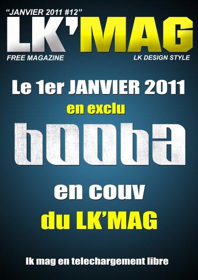 BOOBA  en couv' du LK MAG de Janvier / DU LOURD POUR L ANNEE 2011