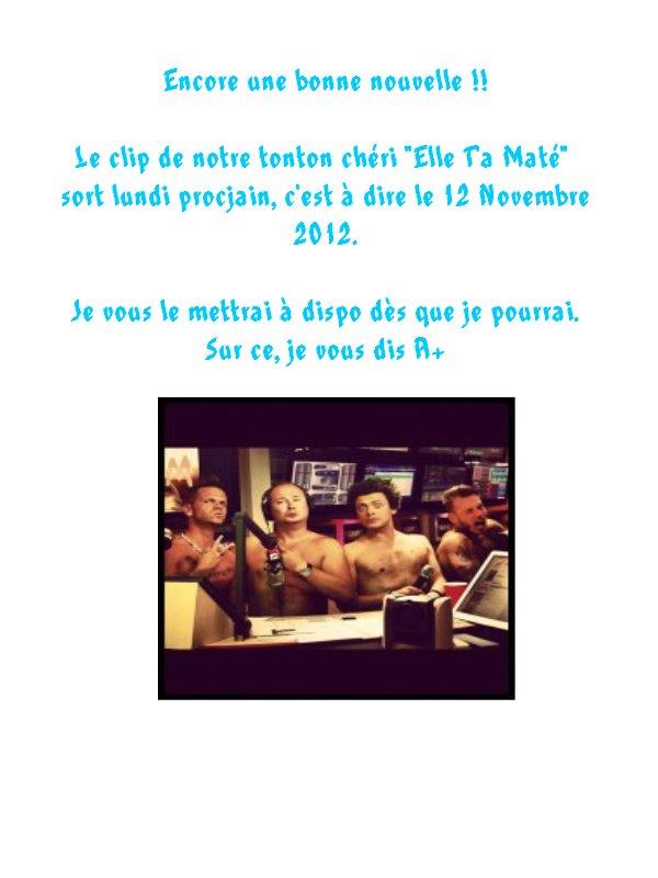 """Sortie du clip """"Elle T'a Maté"""" ce soir à MINUIT !!"""