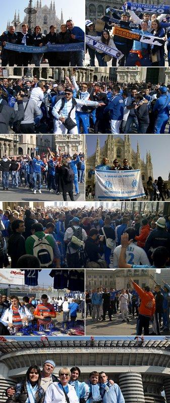 Folle ambiance marseillaise à Milan
