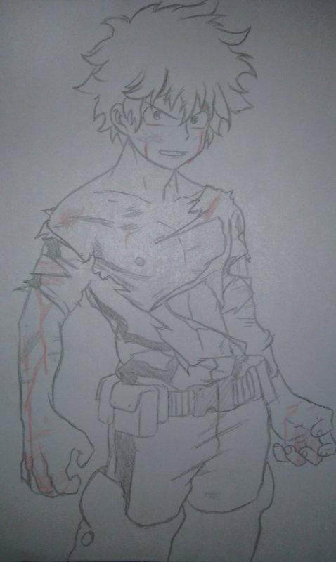 Premier dessin d'Izuku. :3 Avis please.