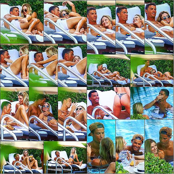 . 01/08/16 - Cristiano Ronaldo  a été aperçu avec la manequin Cassandre Davis à Miami en Floride.  Cristiano Ronaldo a été apercu passant du bon temps avec la manequin Cassandre Davis à la piscine, calins, bisous..Serait-il en couple ? .