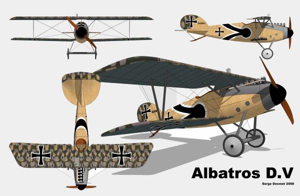 Construction de A à Z  et en détails de l'Albatros D5 (biplan de la Première Guerre Mondiale)