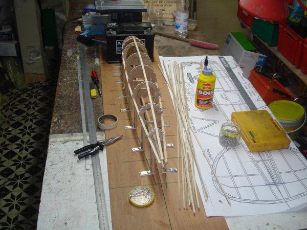 Construction de l'armature du fuselage, du stabilisateur et de la dérive