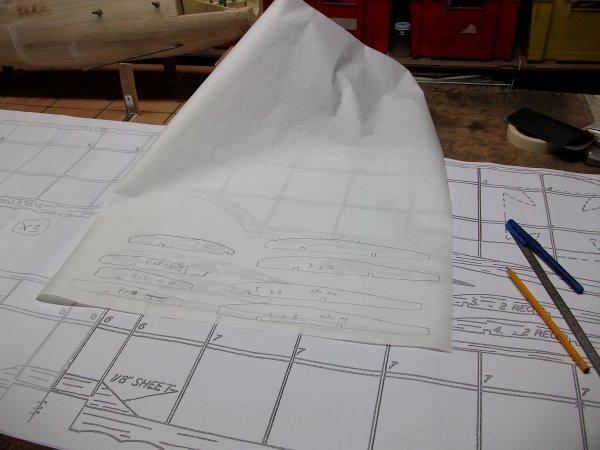 Construction de l'aile supérieure