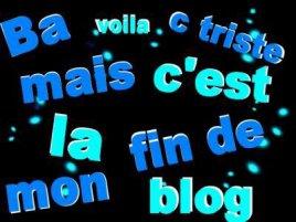 Fin de mon blog