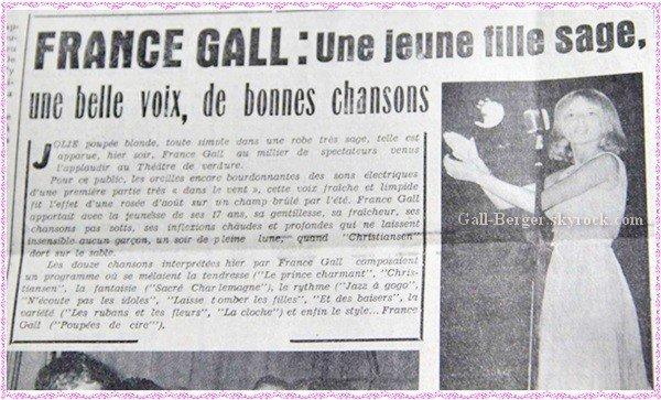 En 1965, France Gall chantait au Puy-en-Velay à tout juste 17 ans